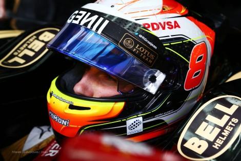 Romain Grosjean, Lotus, Bahrain International Circuit, 2015