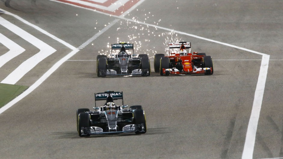 Hamilton wins again as sparks fly between Mercedes and Ferrari