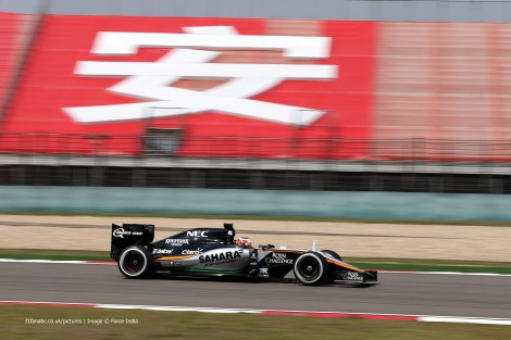 Nico Hulkenberg, Force India, Shanghai International Circuit, 2015