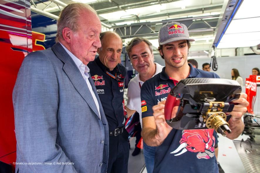 Juan Carlos, Franz Tost, Carlos Sainz, Carlos Sainz Jnr, Toro Rosso, 2015