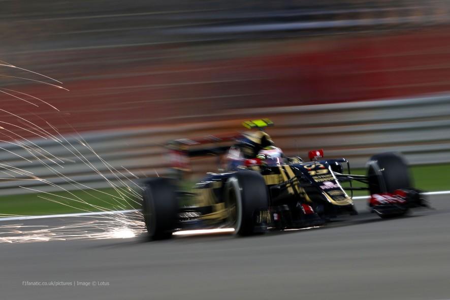 Pastor Maldonado, Lotus, Bahrain International Circuit, 2015