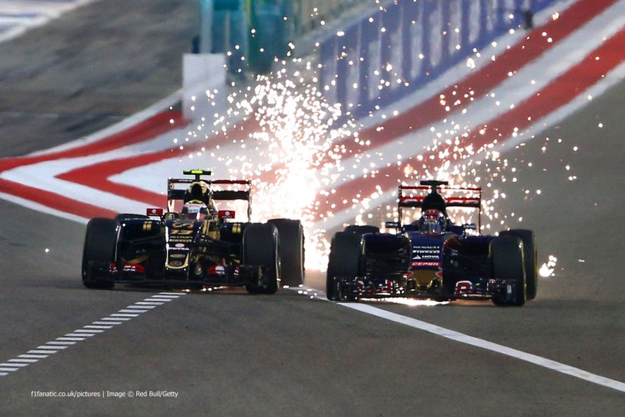Pastor Maldonado, Max Verstappen, Bahrain International Circuit, 2015