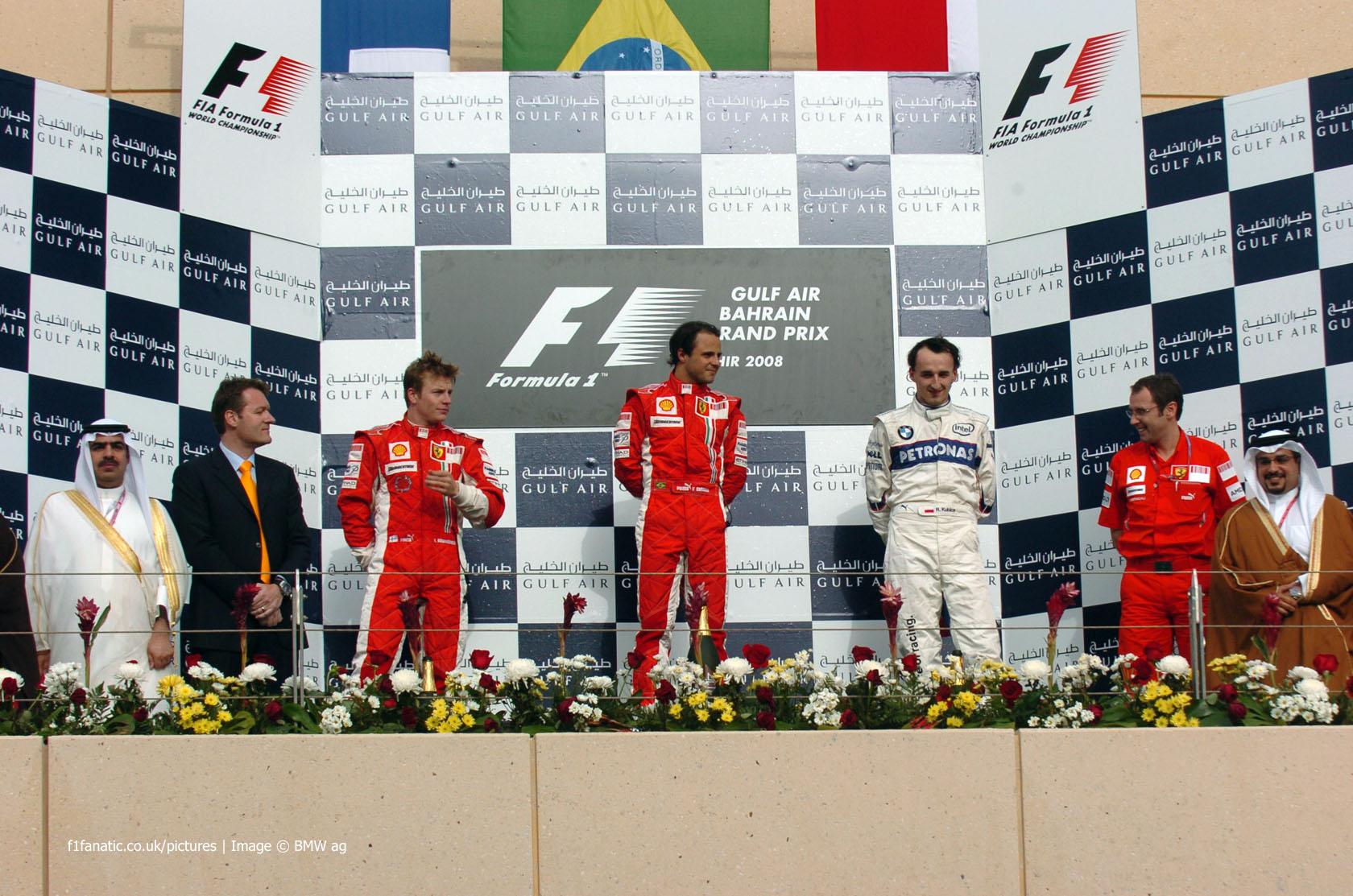Kimi Raikkonen, Felipe Massa, Robert Kubica, Bahrain, 2008