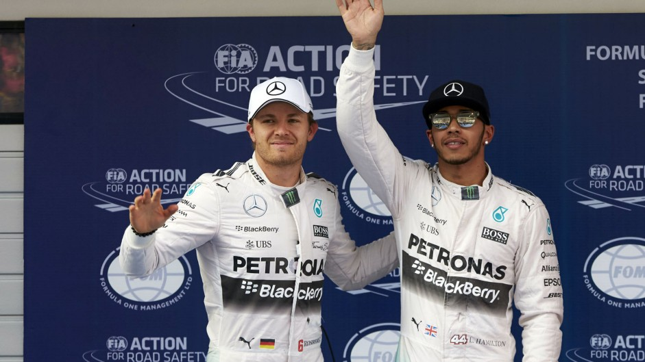 Hat-trick for Hamilton after narrow pole position win