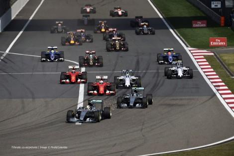 Start, Shanghai International Circuit, 2015