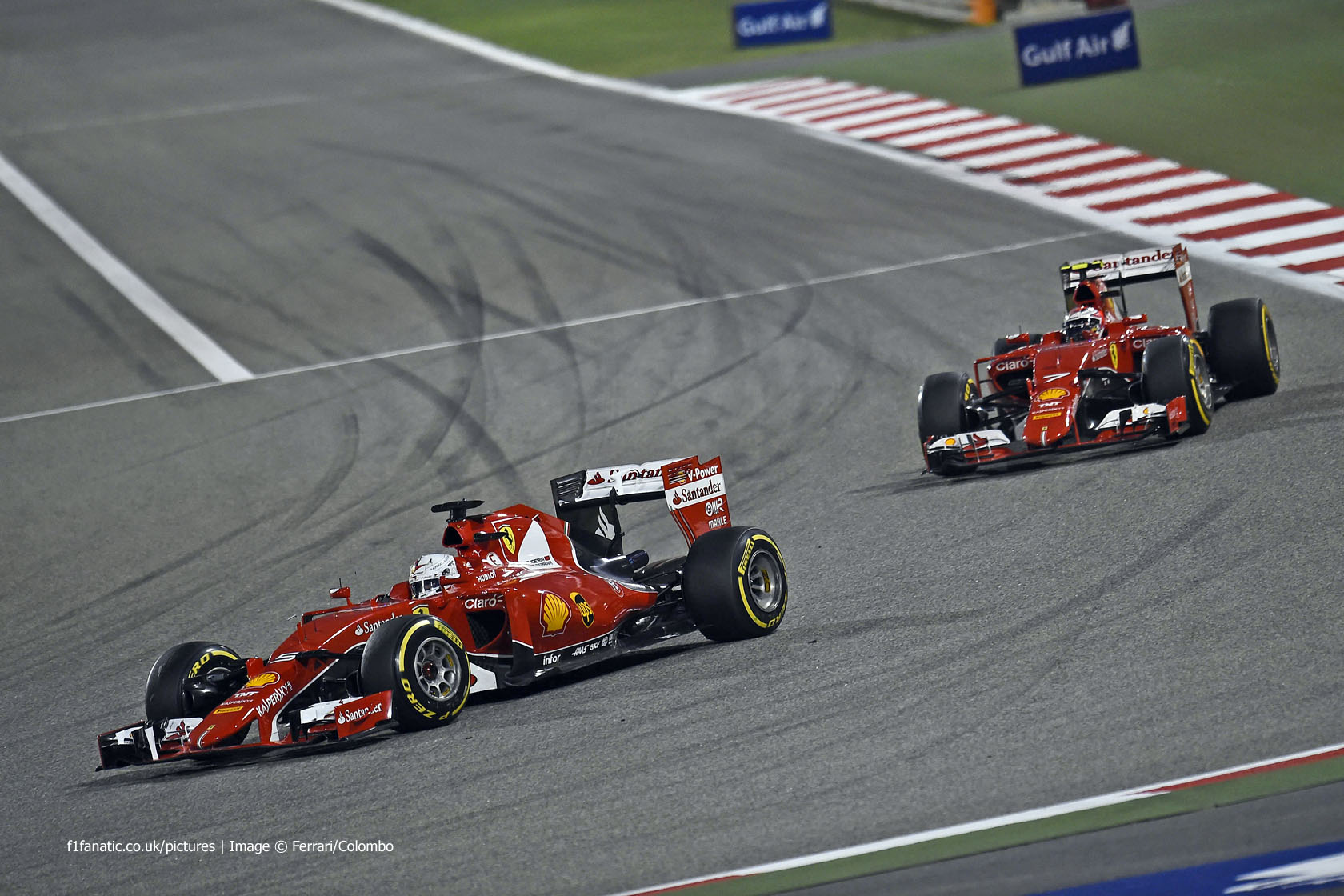 Sebastian Vettel, Ferrari, Bahrain International Circuit, 2015