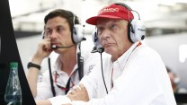 Toto Wolff, Niki Lauda, Mercedes, Bahrain International Circuit, 2015