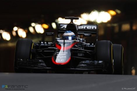 Fernando Alonso, McLaren, Monte-Carlo, 2015