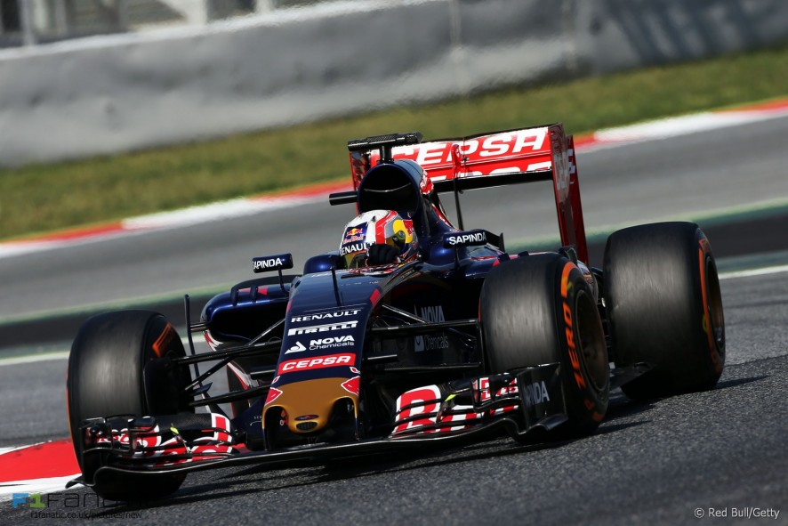Pierre Gasly, Toro Rosso, Circuit de Catalunya testing, 2015