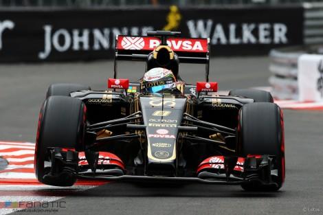 Romain Grosjean, Lotus, Monte-Carlo, 2015