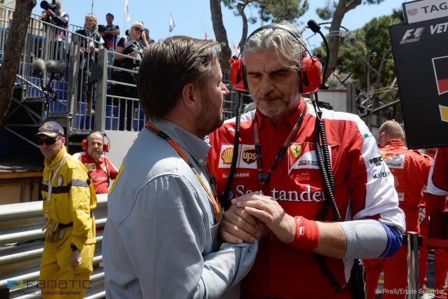 Paul Hembery, Maurizio Arrivabene, Monte-Carlo, Monaco, 2015