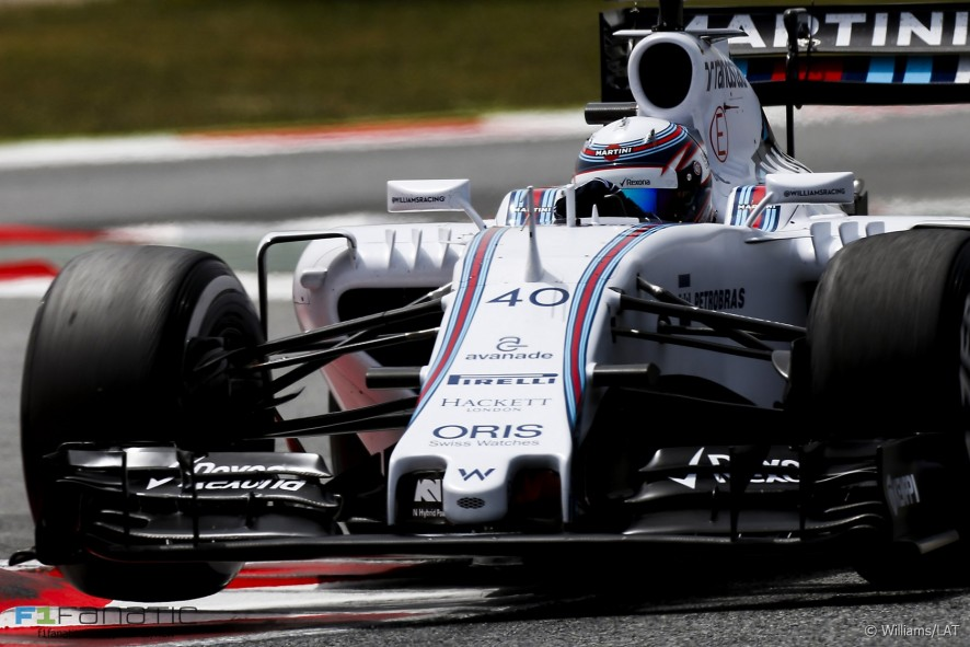 Alex Lynn, Williams, Circuit de Catalunya testing, 2015