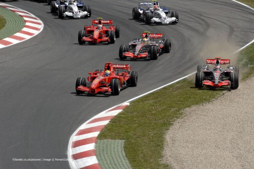 Start, Circuit de Catalunya, Barcelona, 2007