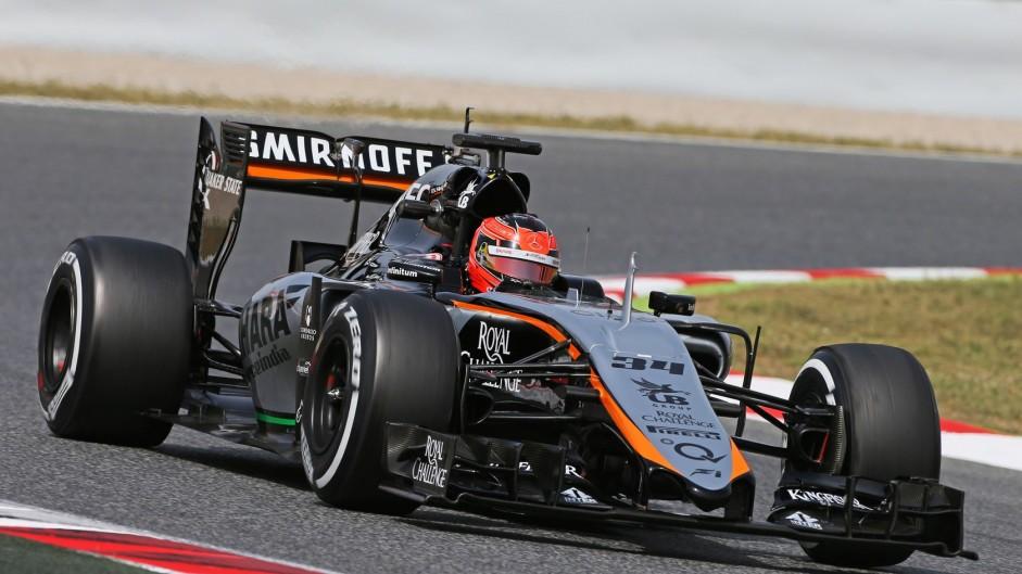 Esteban Ocon, Force India, Circuit de Catalunya testing, 2015