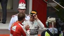 Sebastian Vettel, Nico Rosberg, Monte-Carlo, 2015