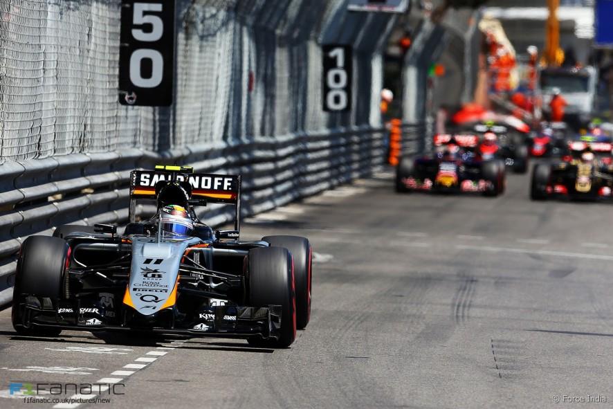 Sergio Perez, Force India, Monte-Carlo, 2015