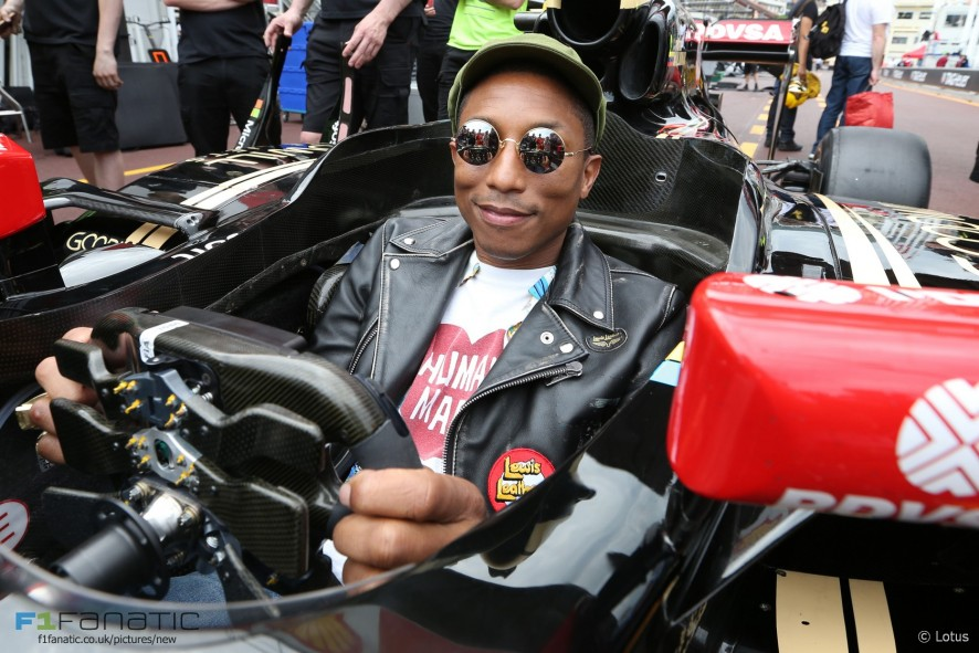 Pharrell Williams, Lotus, Monte-Carlo, 2015