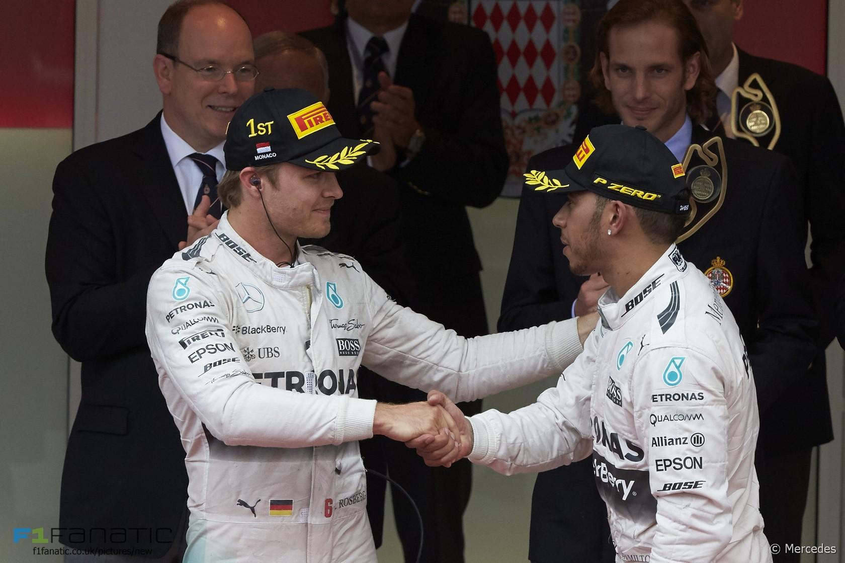 Nico Rosberg, Lewis Hamilton, Mercedes, Monte-Carlo, Monaco, 2015