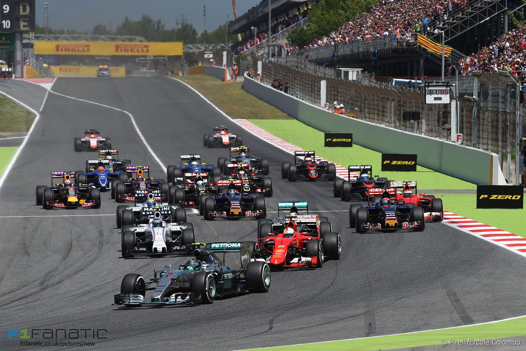 Start, Circuit de Catalunya, 2015