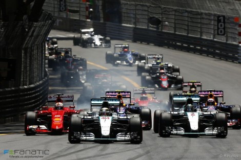 Start, Monte-Carlo, 2015 Monaco Grand Prix