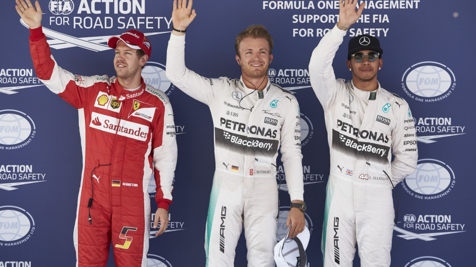 Rosberg halts Hamilton's pole run in Spain
