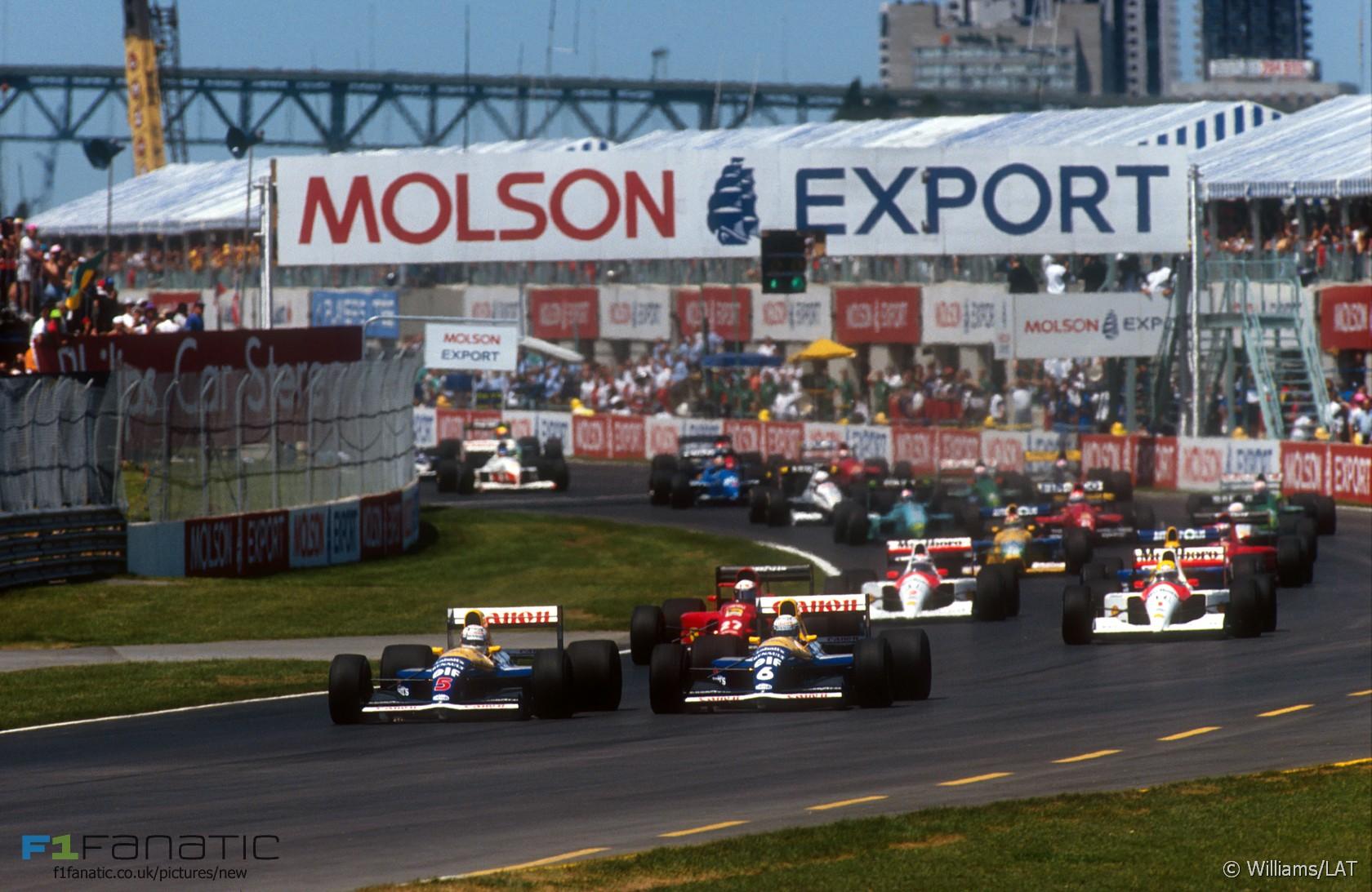 Start, Canadian Grand Prix, 1996, Circuit Gilles Villeneuve, Montreal