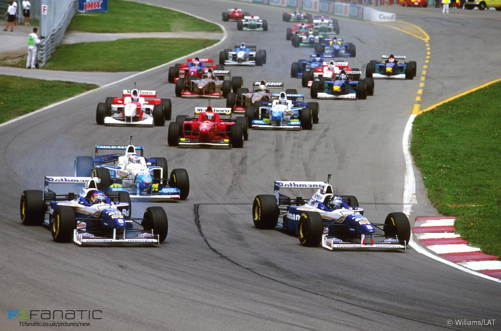 start canadian grand prix 1996 circuit gilles villeneuve montreal f1 fanatic. Black Bedroom Furniture Sets. Home Design Ideas
