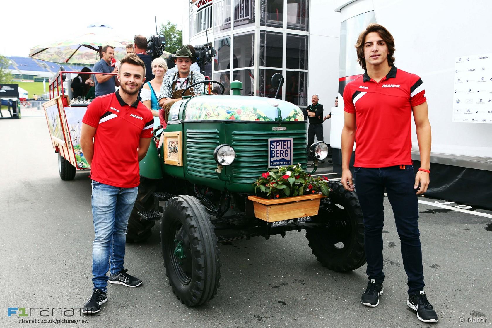 Will Stevens, Roberto Merhi, Manor, Red Bull Ring, 2015