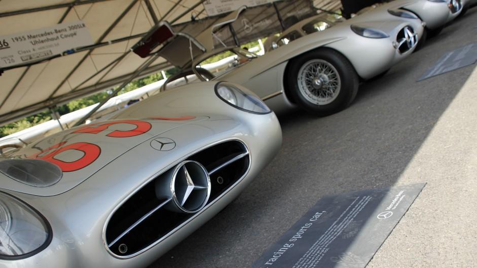 Mercedes 300 SLRs, Goodwood Festival of Speed, 2015
