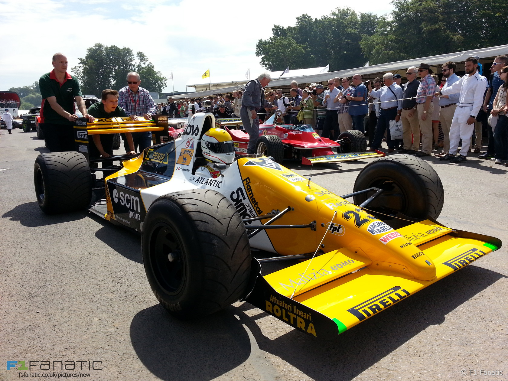 Pierluigi Martini, Minardi M189, Goodwood Festival of Speed, 2015