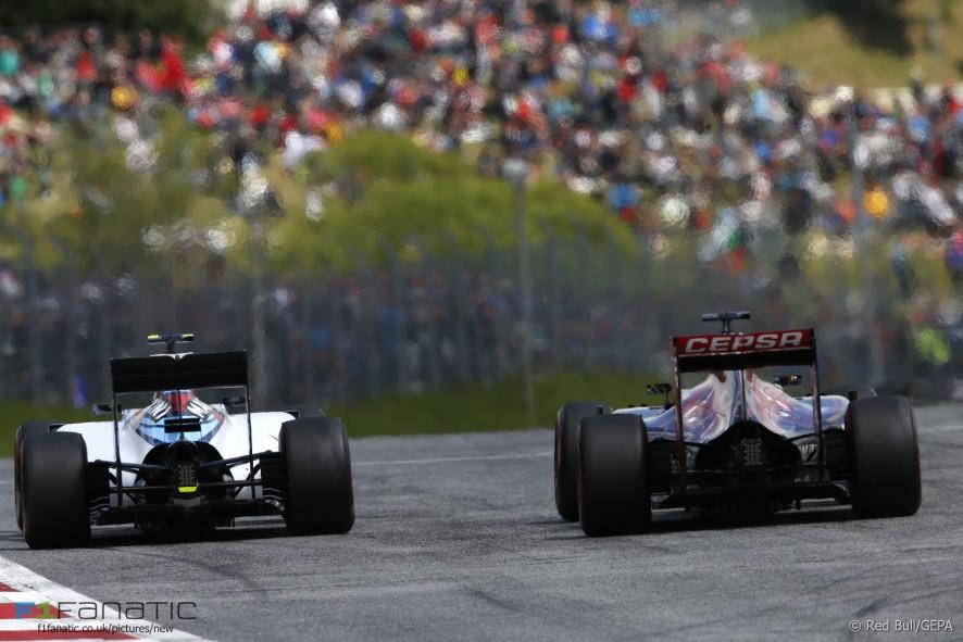 Valtteri Bottas, Max Verstappen, Red Bull Ring, 2015