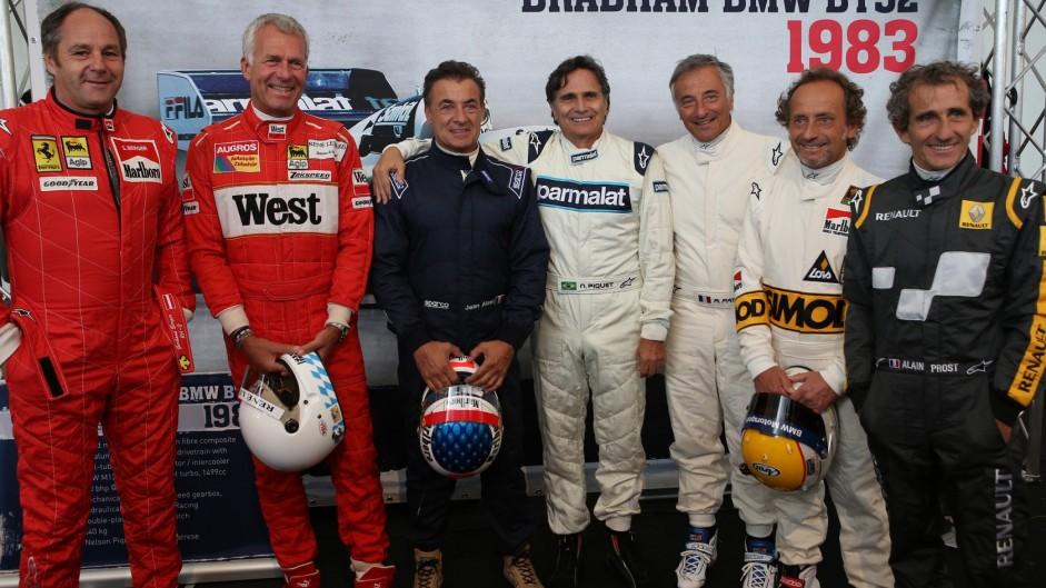 Gerhard Berger, Christian Danner, Jean Alesi, Nelson Piquet, Riccardo Patrese, Pierluigi Martini, Alain Prost, Red Bull Ring, 2015