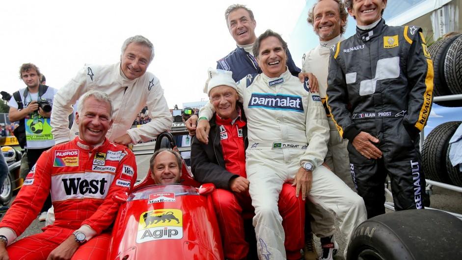 Christian Danner, Riccardo Patrese, Gerhard Berger, Niki Lauda, Jean Alesi, Nelson Piquet, Riccardo Patrese, Alain Prost, Red Bull Ring, 2015