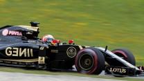 Romain Grosjean, Lotus, Red Bull Ring, 2015
