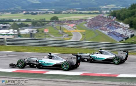 Lewis Hamilton, Nico Rosberg, Mercedes, Red Bull Ring, 2015
