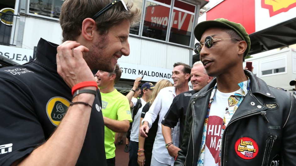Caption Competition 78: Grosjean & Pharrell Williams