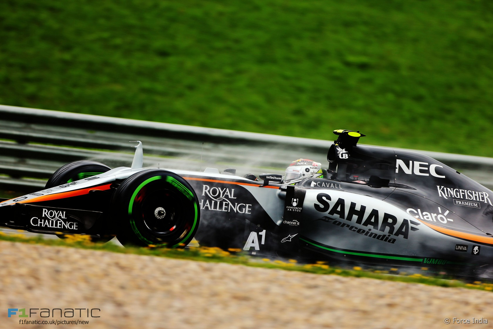 Sergio Perez, Force India, Red Bull Ring, 2015