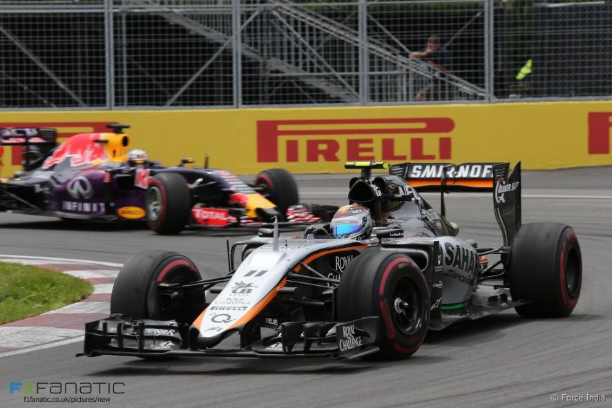 Sergio Perez, Force India, Circuit Gilles Villeneuve, 2015