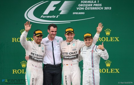 Lewis Hamilton, Nico Rosberg, Felipe Massa, Red Bull Ring, 2015