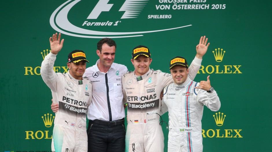 Rosberg matches Massa as Hamilton reaches a record