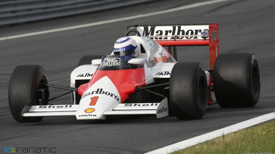 Alain Prost, McLaren-TAG MP4-2C, Red Bull Ring, 2015