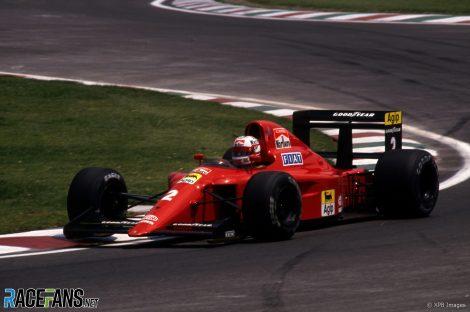 Nigel Mansell, Ferrari, Autodromo Hermanos Rodriguez, 1990