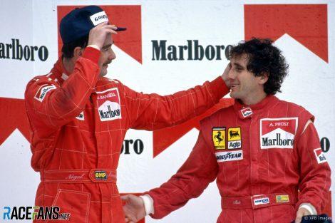 Nigel Mansell, Alain Prost, Ferrari, Autodromo Hermanos Rodriquez, 1990