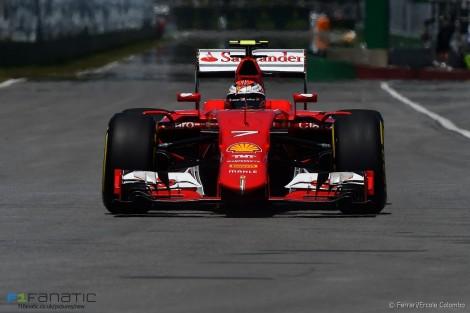 Kimi Raikkonen, Ferrari, Circuit Gilles Villeneuve, 2015