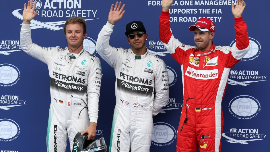 Mercedes pair spin their way to another front row