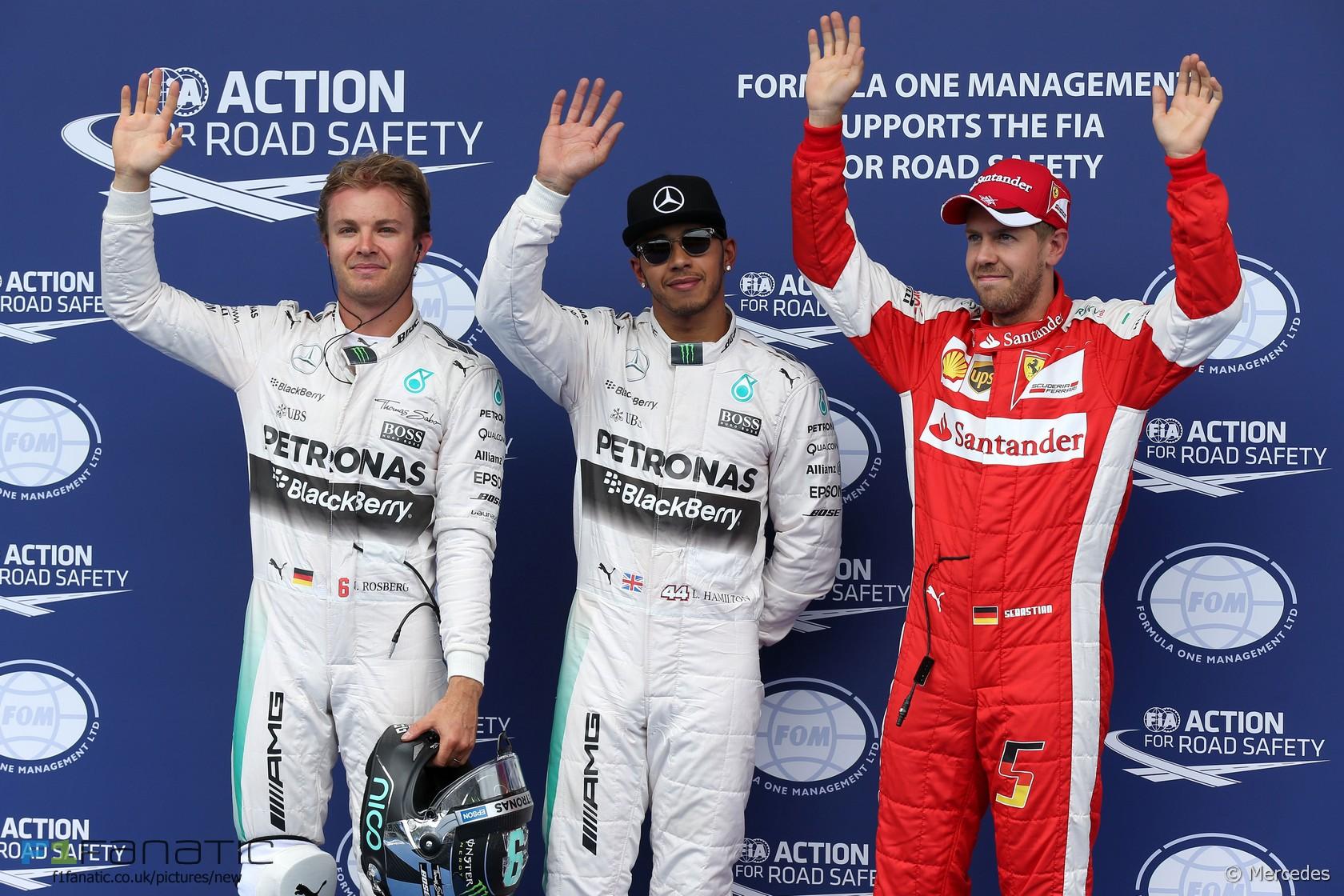 Nico Rosberg, Lewis Hamilton, Sebastian Vettel, Red Bull Ring, 2015