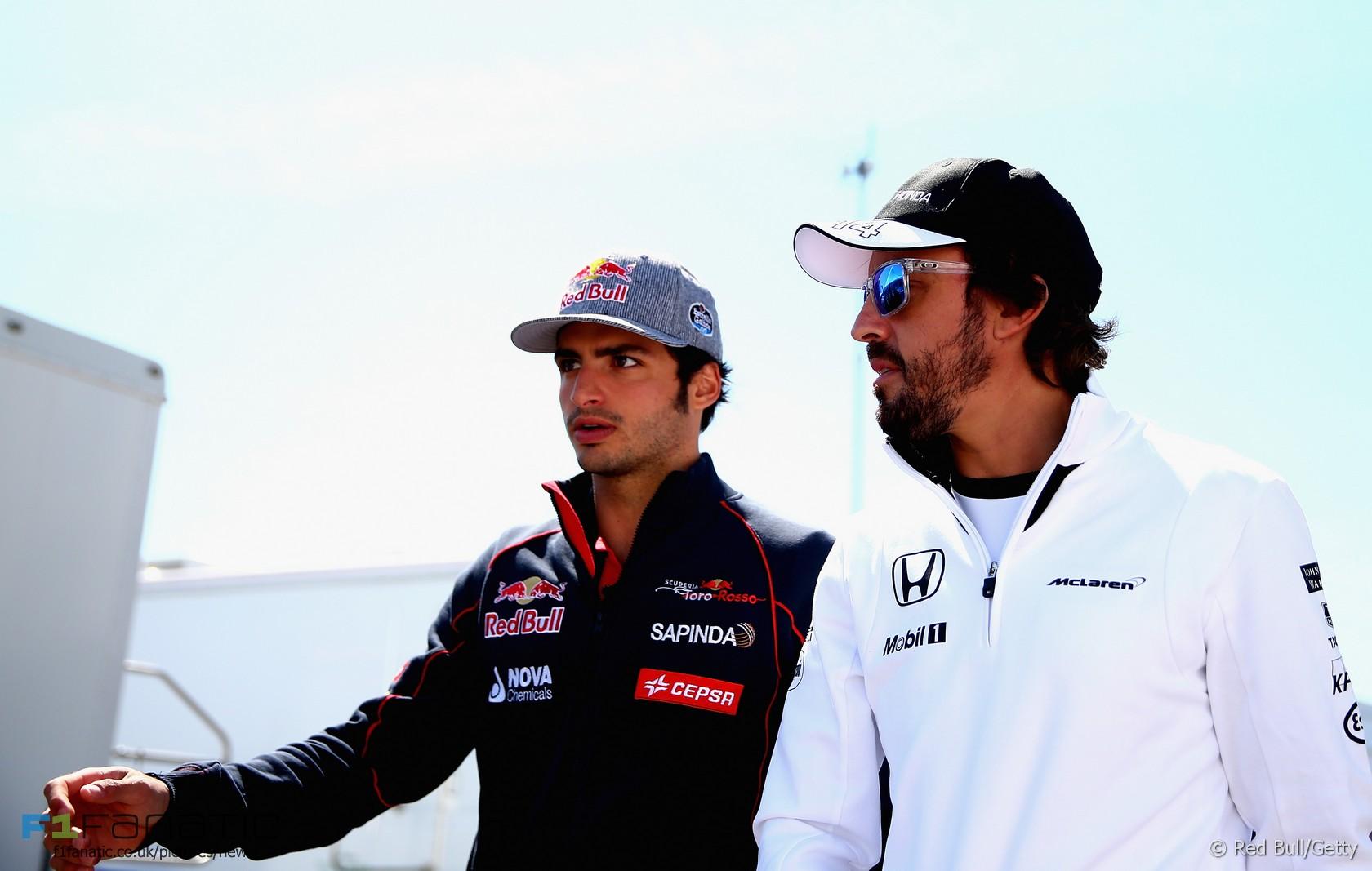 Carlos Sainz Jnr, Fernando Alonso, Circuit Gilles Villeneuve, 2015