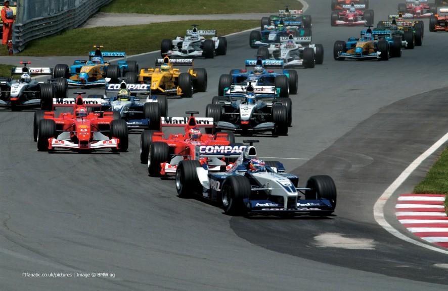 Start, Canadian Grand Prix, Circuit Gilles Villeneuve, Montreal, 2002