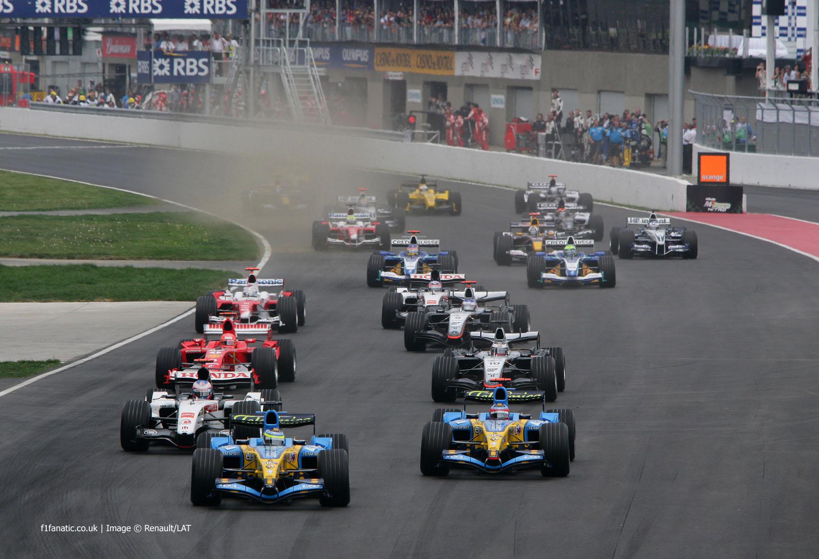 Start, Canadian Grand Prix, Circuit Gilles Villeneuve, Montreal, 2005