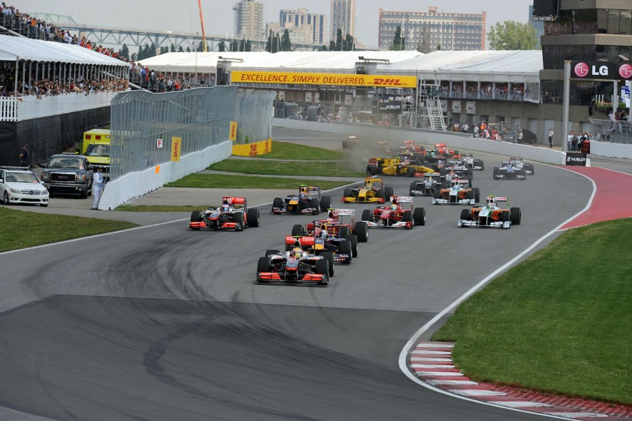 Start, Canadian Grand Prix, 2010, Circuit Gilles Villeneuve, Montreal